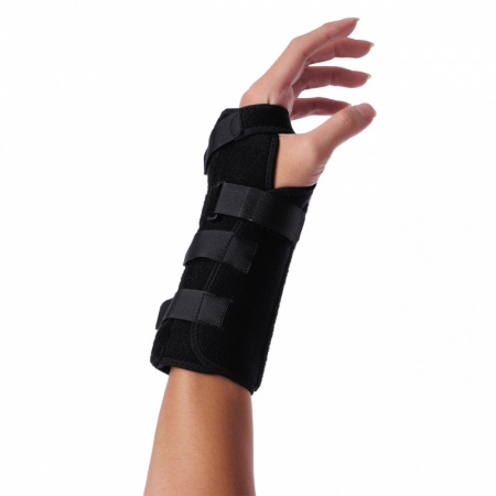 Wrist splint with aluminium stays