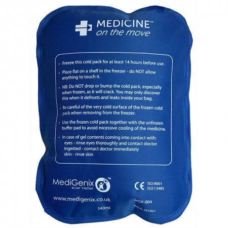 MediGenix CoolMeds Cold Pack for CoolMeds 2 - 8°C case (1 per pack)