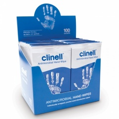 Clinell Antibacterial Handwipes x100 Individually Wrapped